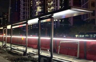庆祝广东艾卓接下深圳市百万订单公交站台工程项目